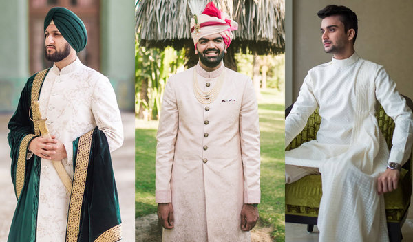 #Spotted: Real Grooms in Dapper Ivory Outfits for Wedding Ceremonies