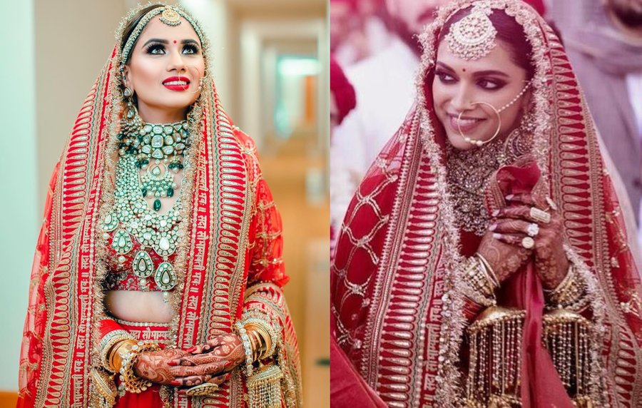0611f67f54 Just when we thought that we were finally (getting) over Deepika Padukone &  Ranveer Singh's exuberant wedding festivities, a recent bride, Ravina took  us ...