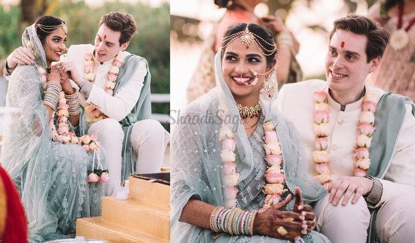 Happy & Serene Cross-Cultural Wedding of a Radiant Couple in Goa