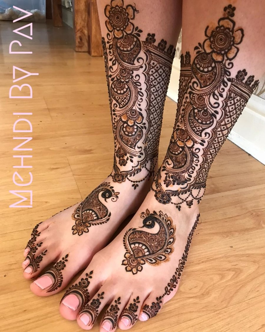 25+ Fresh \u0026 Stunning Foot Mehndi Designs for the Modern