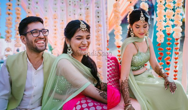 Eco-friendly & DIY Mehndi Ceremony of an Adorable Couple in Summery Outfits