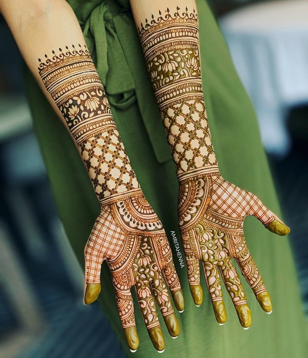 front mehndi design easy and beautiful full hand
