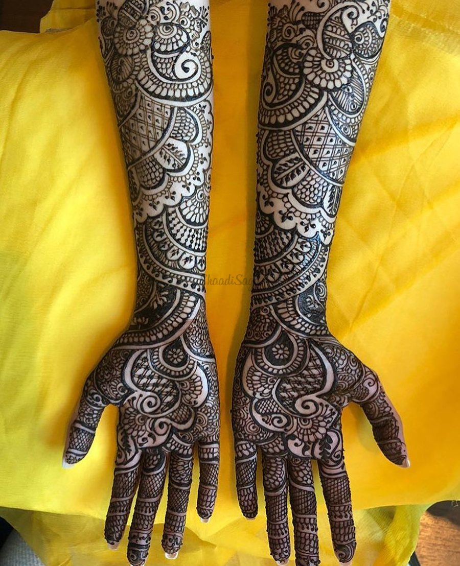 Top 51+ Full Hand Mehndi Designs