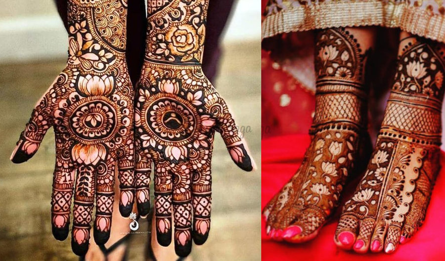 35+ Fresh \u0026 Pretty Lotus Mehndi Designs for Hands \u0026 Feet to