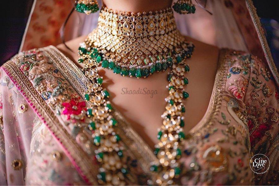 34 Impressive Jewellery Ideas To Pair With Your Pink Bridal Lehenga Shaadisaga