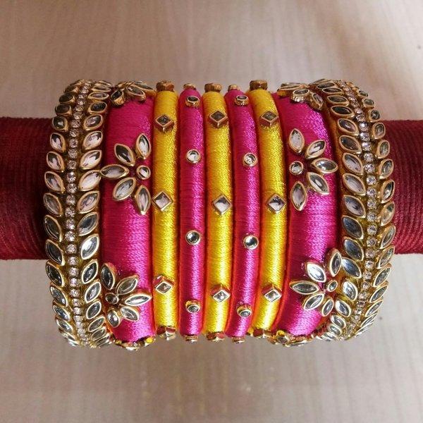 Top 51 Silk Thread Bangle Designs Shaadisaga