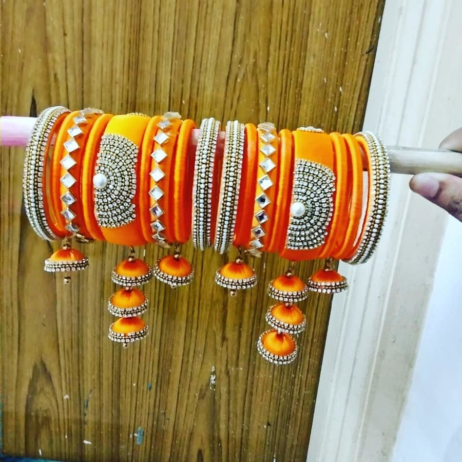 Top 51 Silk Thread Bangle Designs Shaadisaga