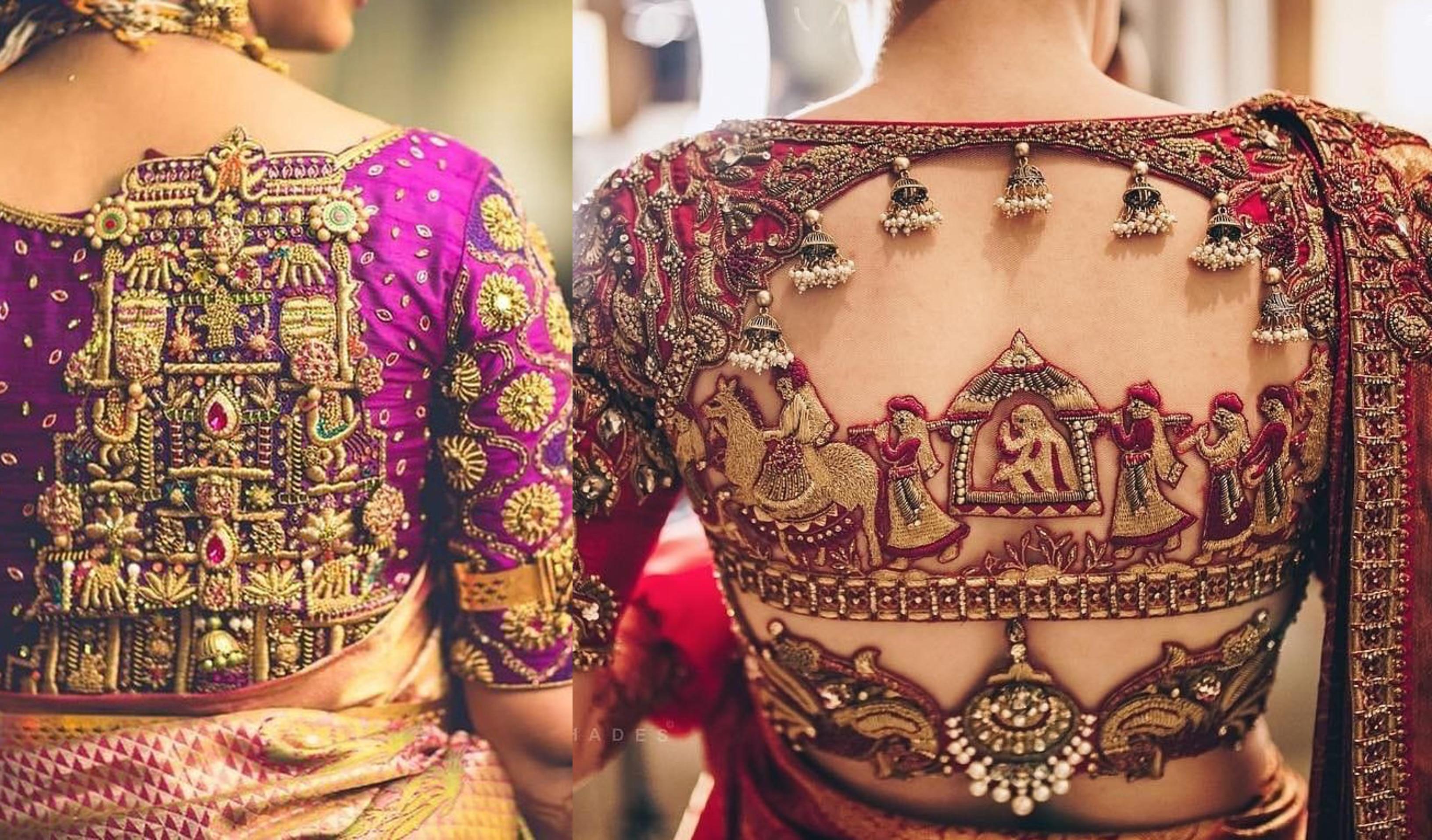 Readymade Saree Blouse,Designer Golden Sari Blouse,South Indian Blouse,Choli,Top