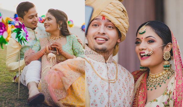 Traditional Gujarati Wedding with Pin-worthy Decor & Interesting Love Story!