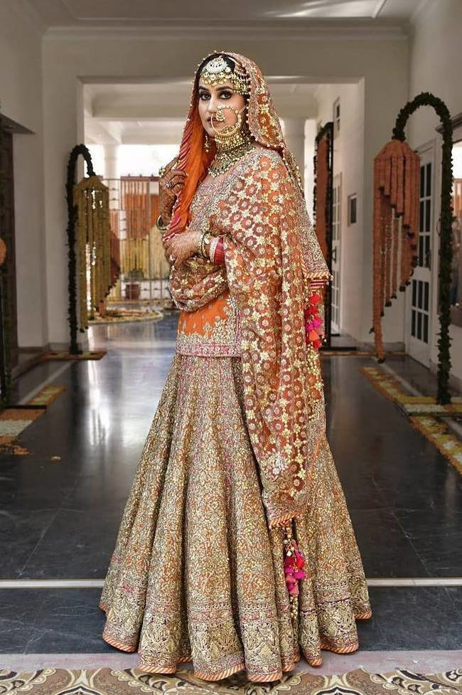 30 Bridal Lehengas With Long Blouse That Are Every Bit Stunning Shaadisaga