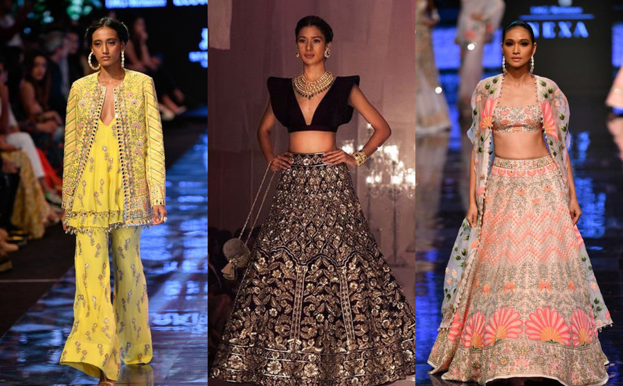 Our Favourite Wedding Ensembles From The Ramp Of Lakme Fashion Week 19 Shaadisaga