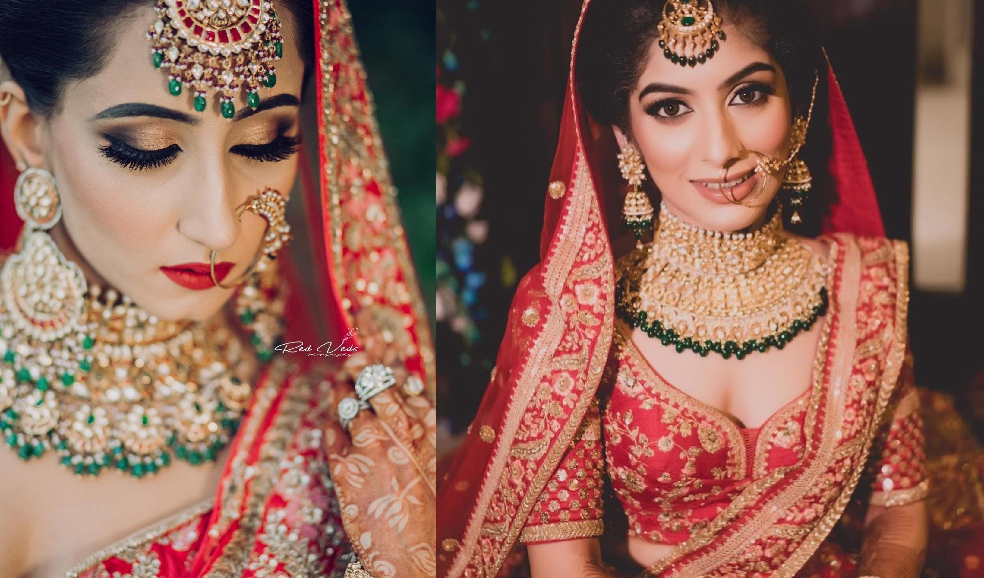 30 Bridal Makeup Ideas To Complement Your Red Wedding Lehenga Shaadisaga
