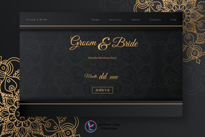 Elegant wedding landing page copy