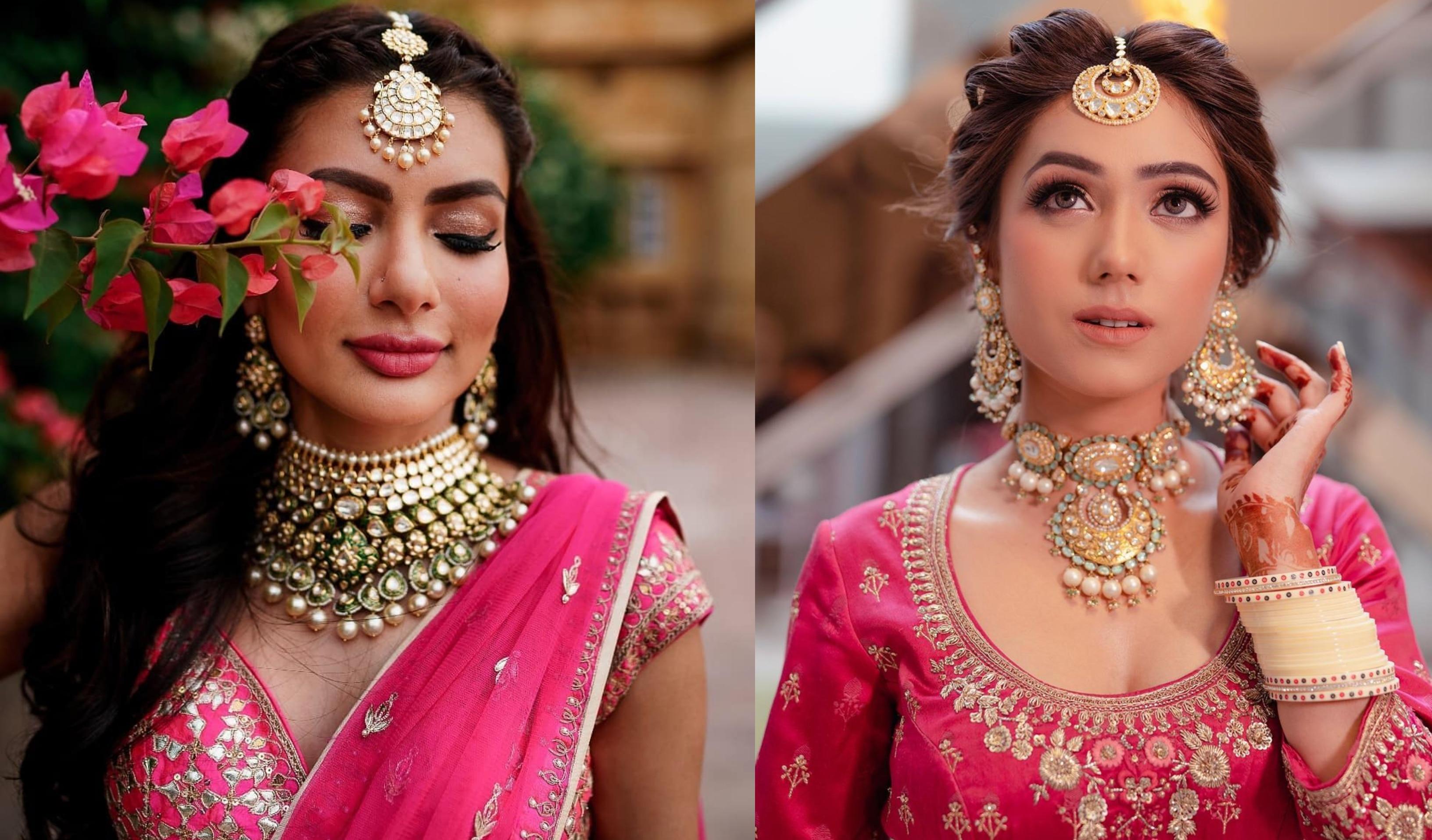 Latest Magenta Color Indian Bridal Jewellery Set Designer Bridal Jewelry Set