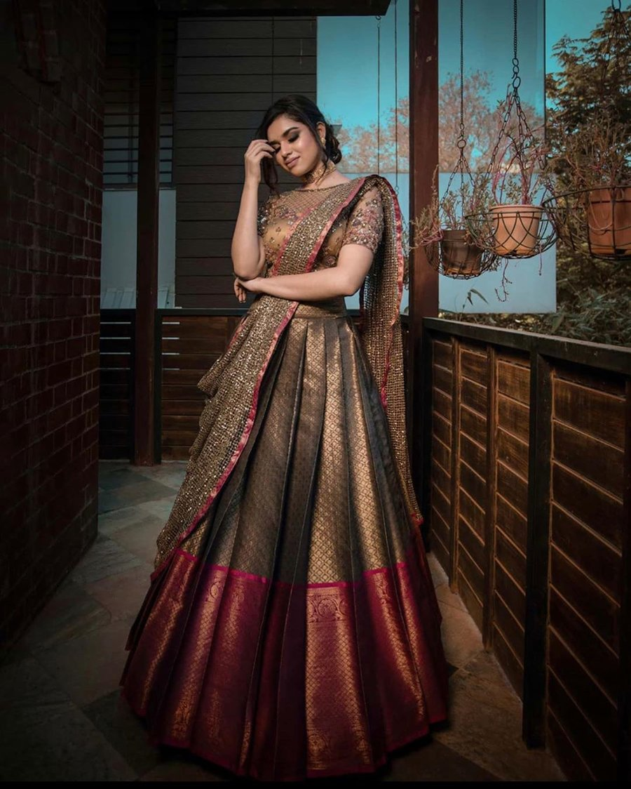 23 Elegant Saree Lehenga Designs For The South Indian Brides Shaadisaga,Wedding Dresses 500 And Under