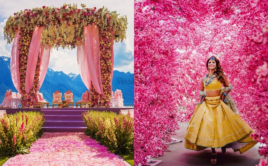 25 Ideas Of Including Pink Colour Decor In Your Wedding