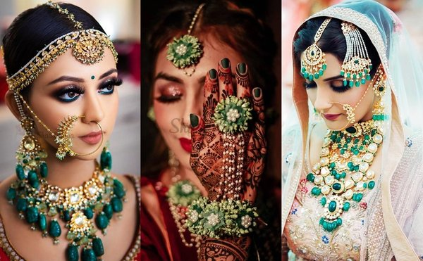 Wear These Dazzling Bridal GREEN Jewellery For Your Wedding - #SSGoesColourful