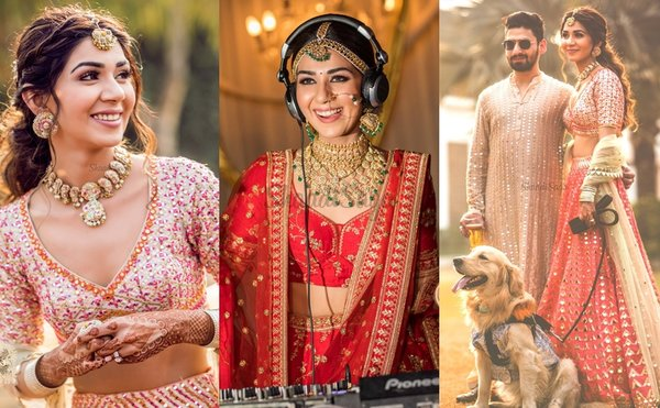 Chic Summer Wedding in Delhi With The Couple In Designer Outfits!