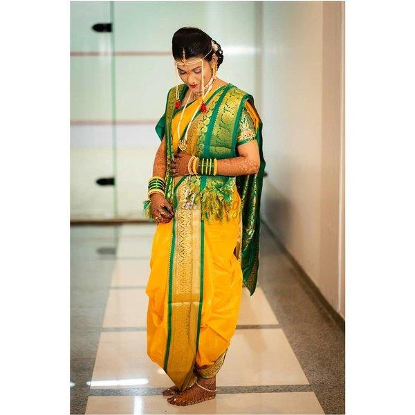 Beautiful Nauvari Sarees We Spotted On These Real Maharashtrian Brides Shaadisaga Bridal hairstyle for nauvari saree fade haircut via haircutfit.com. beautiful nauvari sarees we spotted on