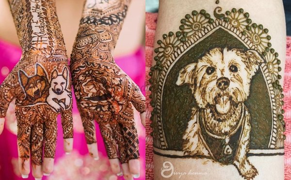 16 Paw-adorable Dog Mehendi Designs That Will Melt Your Heart For Sure!