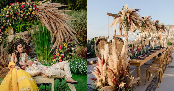 Here's How You Can Include Pampas Grass Into Your Wedding Decor