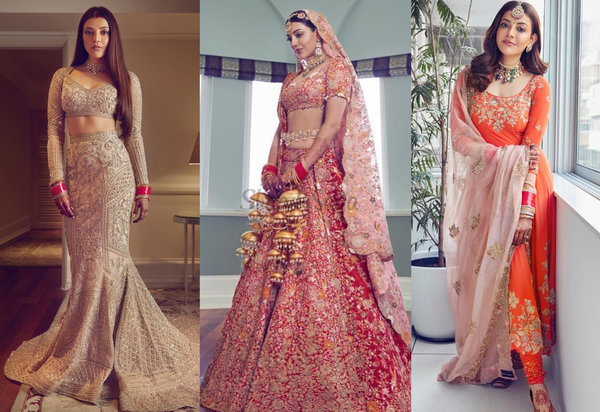 10 Looks Straight From New Bride Kajal Aggarwal's Wardrobe For Some Outfit Inspo!