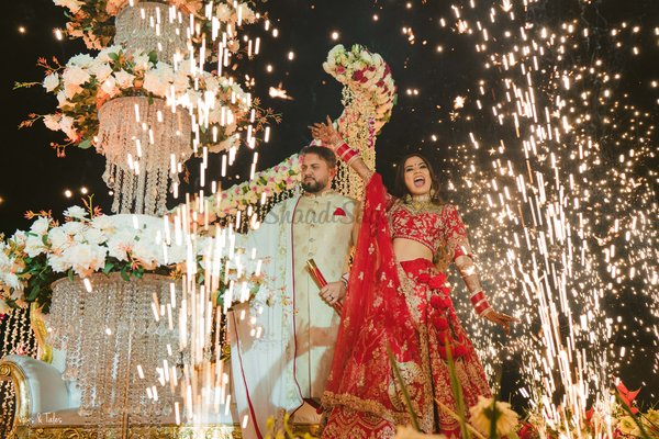 This Couple Had A Destination Jaipur Wedding Where This Bride Self-Designed Her Gown!