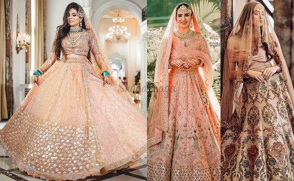 These 20+ Peach Lehengas Have Our Hearts Taken Away!