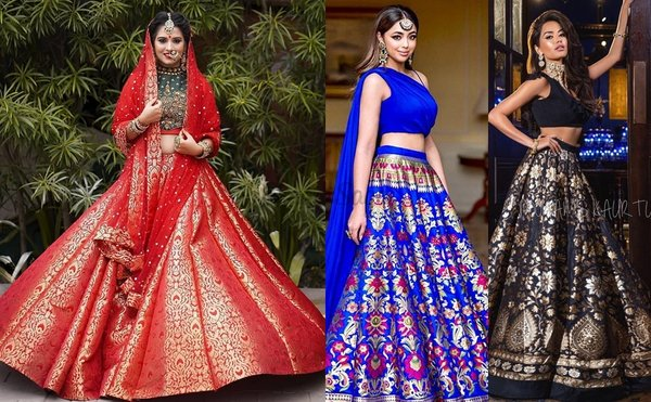 31 Brocade Lehenga Ideas For Brides Who Want To Dress To Impress