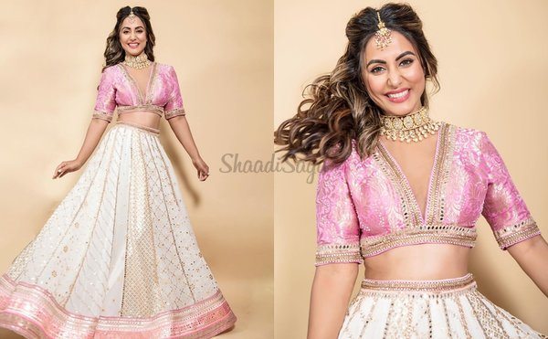 20+ Hand Picked Bridal Outfits From Actress Hina Khan