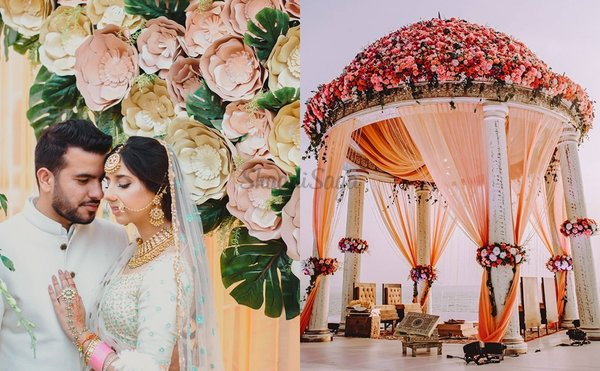 25 Ways To Add Peach Colour In Your Wedding Decoration
