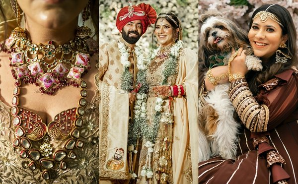A GORG Ludhiana Wedding With Handpainted Outfits, Customised Jewellery & Glam Elements!