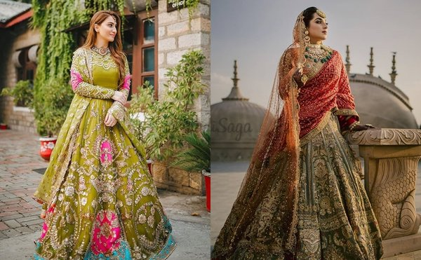 Prettiest Olive Green Lehengas On Real Brides That We Cannot Stop Lusting On!