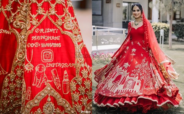 Got An Epic Love Story? Now You Can Add It To Your Wedding Lehenga!