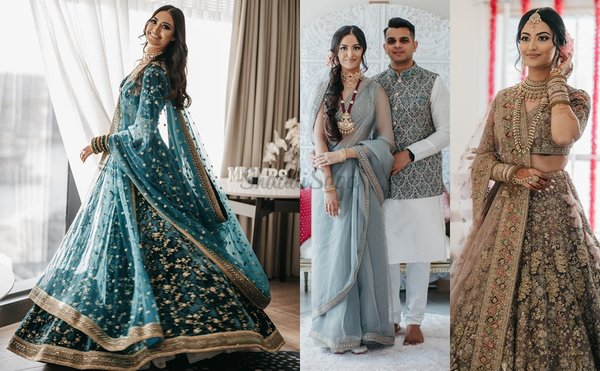 An Intimate Sydney Wedding With Glam Décor & A Bride In Turquoise Sabyasachi Lehenga!