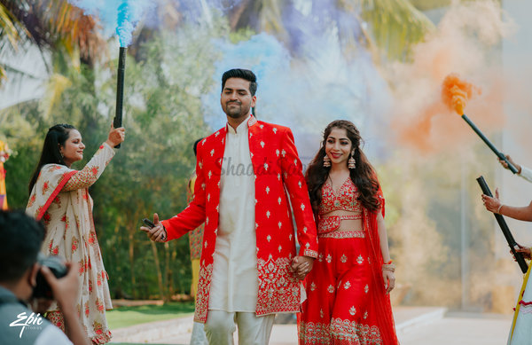 A Vivid Wedding Affair With Colourful Decor Where The Bride & Groom Co-ordinated All Outfits!
