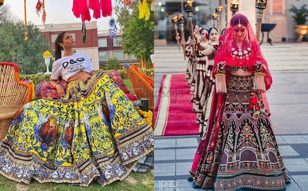 Funky & Unique Lehengas We Recently Spotted On Brides!
