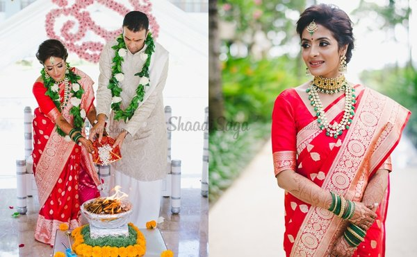 An Intimate Bali Wedding Where The Bride Wowed Us With Her Traditional Red Saree!