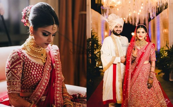 A Grand Kolkata Wedding Where This Duo Synchronised Their Outfits With The Mandap Decor