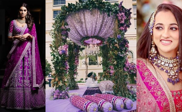 We've Found The Ultimate Way to Include Purple Colour to Your Wedding!
