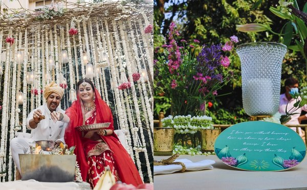 A Sneak Peek Into Dia Mirza & Vaibhav Rekhi's Sustainable Intimate Wedding Décor
