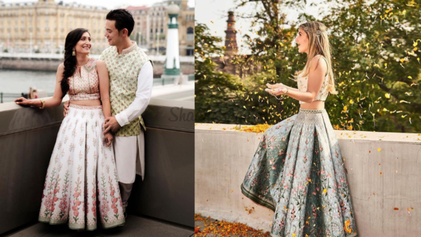 Anita Dongre's Crop-Top & Skirt set is Perfect For Summer Weddings!